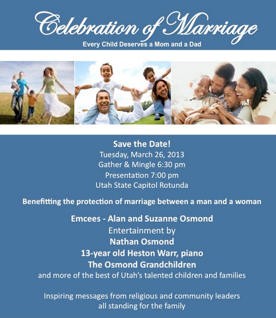 Utah Celebration Of Marriage March 26, 2013