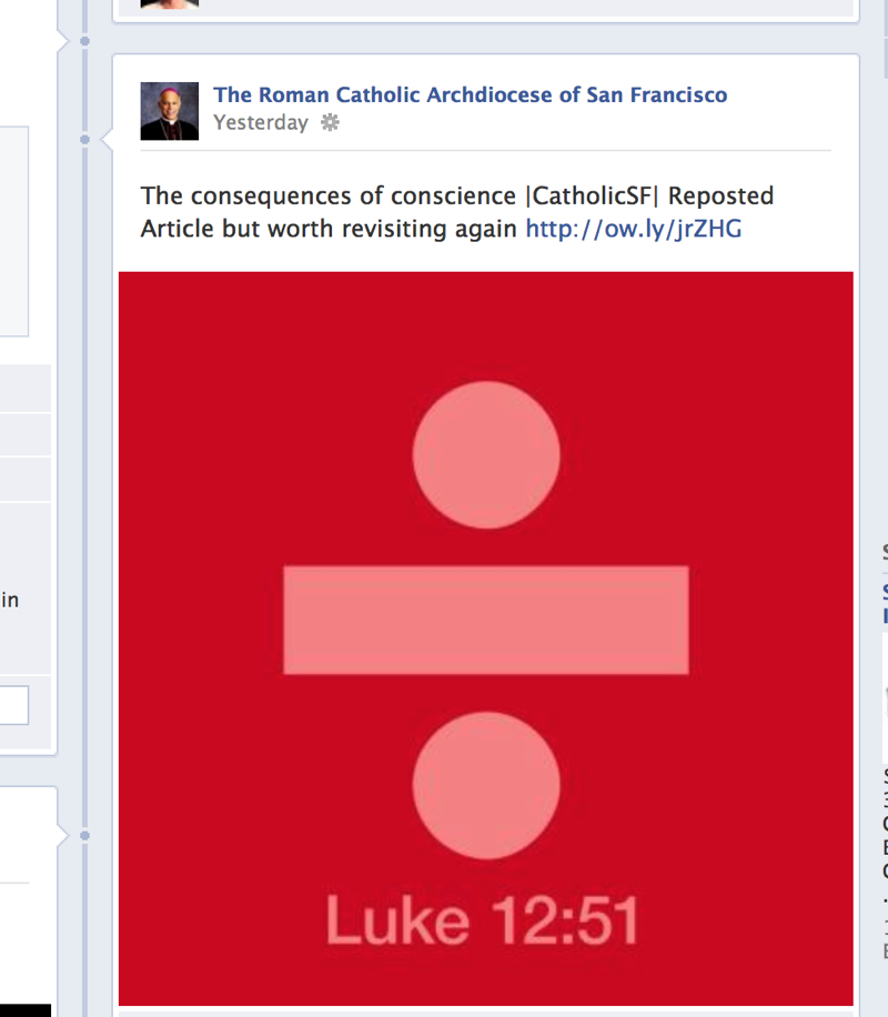 The Father Of Divisive Prop 8 Posts Literal Symbol Of Division